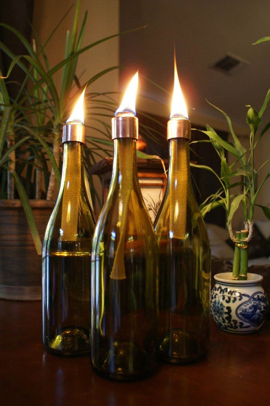 Decorating Creative Handmade Indoors Christmas Lantern Lights Decorating Ideas Christmas Lantern Oil Lamps Lighted Wine Bottles Indoor Christmas Decorations