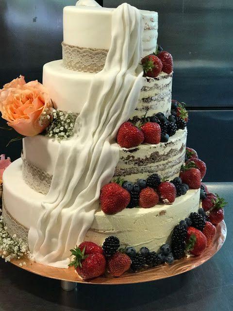 Semi Naked Cake Hochzeitstorte Halb Und Halb London Meets Garmisch