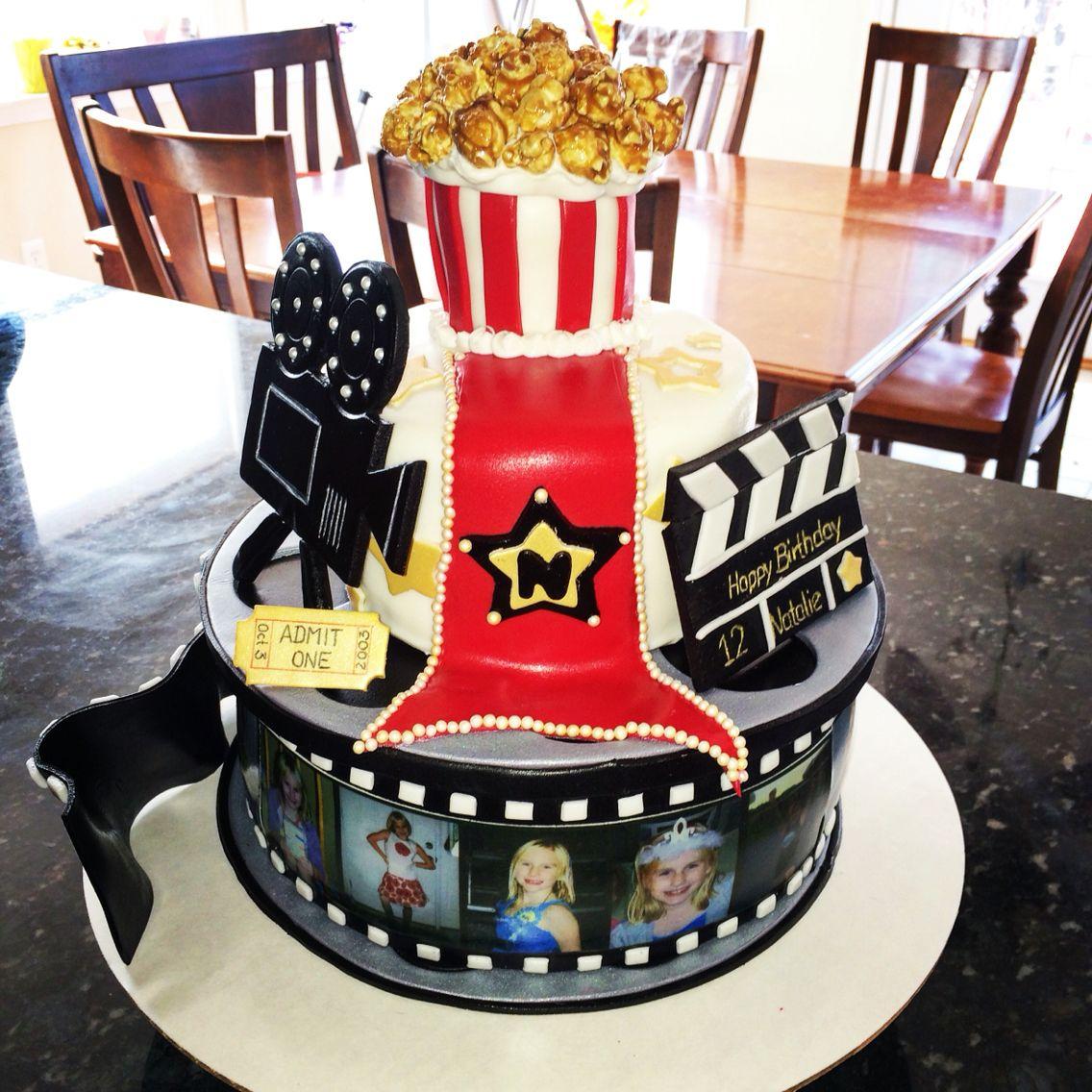 Birthday movies movie theatre red carpet popcorn film