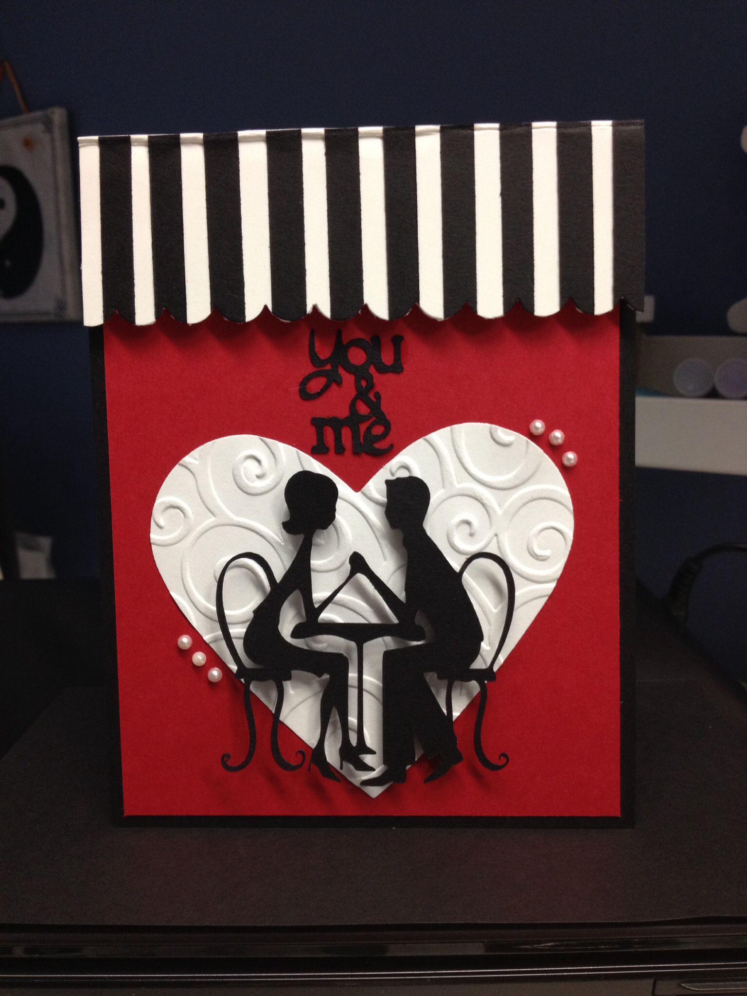 An Anniversary Card Using Sweethearts Cricuts Cartridge Cricut Anniversary Card Anniversary Cards Handmade Anniversary Cards
