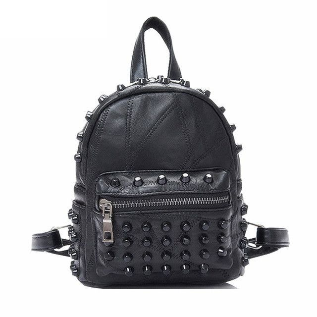 Women Leather Backpack Teenage Schoolbag Girl Teens School Bag Female Mini  Bagpack Feminine Backbag Rucksack sac a dos femme 786fbee44fd35