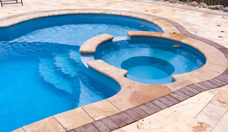 The Allure - pool with spa & tanning ledge - Leisure Pools ...