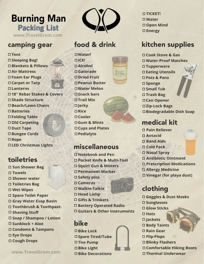 Burning Man Camping Checklist The Essential Guide To Packing