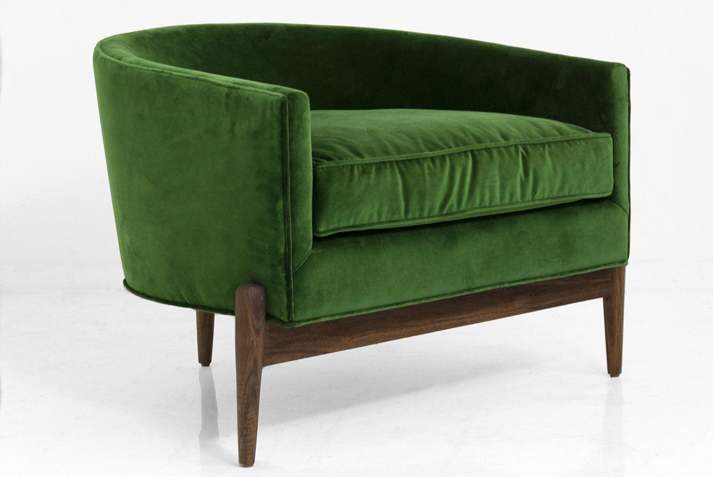 Art Deco Chair in Emerald Velvet $1595