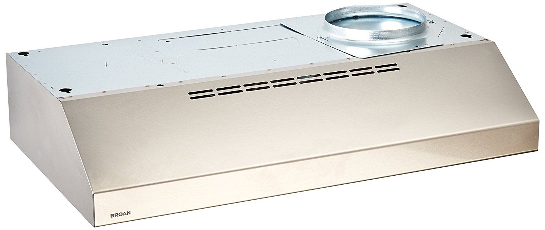 Broan QML30SS Under-Cabinet Range Hood, 30-Inch 200 CFM ...