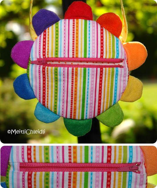 MeitliChleidli: Regenbogen-Blumentasche