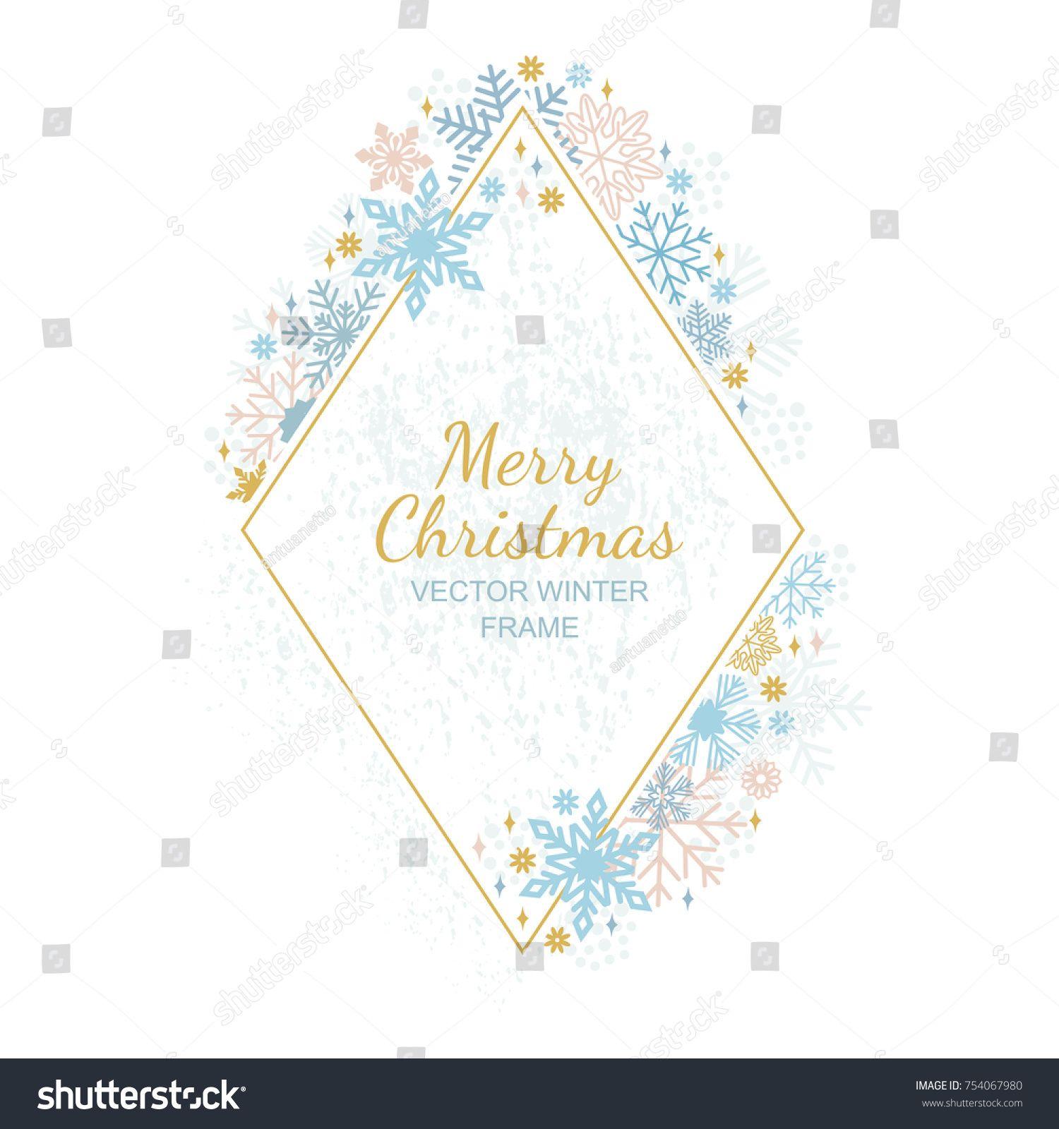Snow flake frame decoration on white background christmas design snow flake frame decoration on white background christmas design for invitation greeting card vector illustration merry xmas snowflake framework 18 stopboris Images