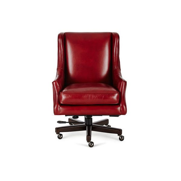 Hooker Furniture Arthur Leather Desk Chair (60.450 RUB) ❤ Liked On Polyvore  Featuring Home, Furniture, Chairs, Office Chairs, Red, Hand Made Furnitu2026