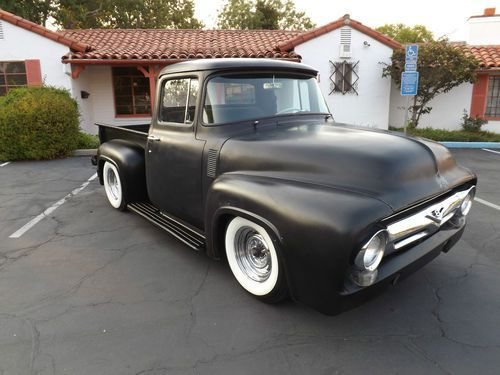 Sell Used 1956 Ford F100 V8 Mild Kustom Hot Rat Rod Short Bed Pick