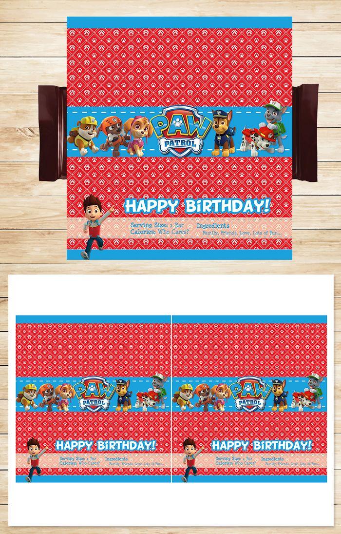 Free Paw Patrol Printables Free Printable Paw Patrol Candy Wrapper