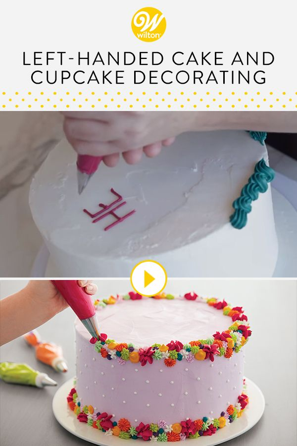 Watch This Video To Learn A Few Tips For Left Handed Cake