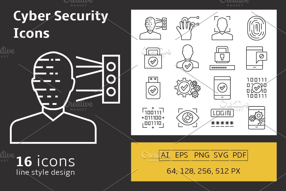 Cyber Security Icons Set Cyber Security Cyber Icon