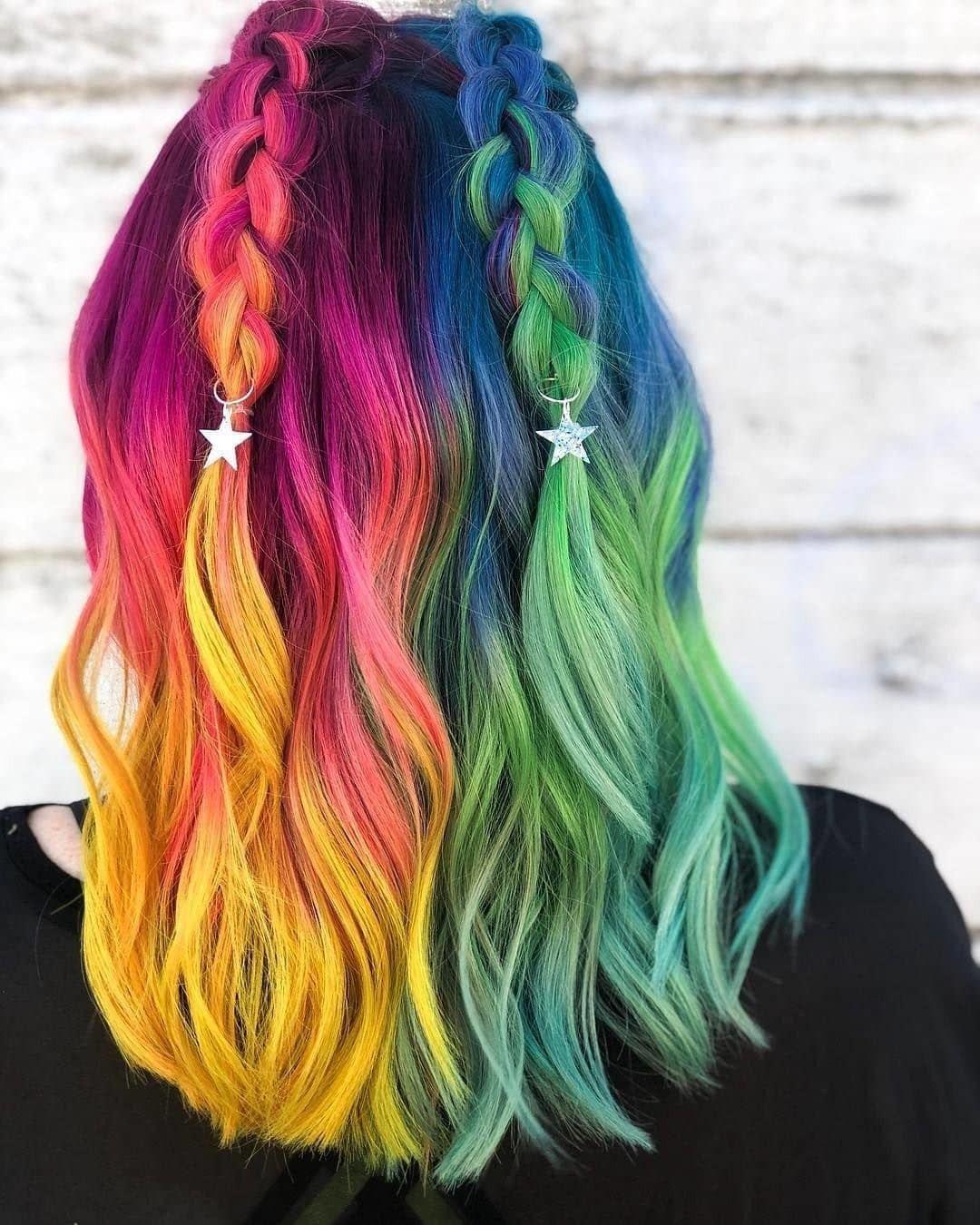 Картинки разных цветов волосы