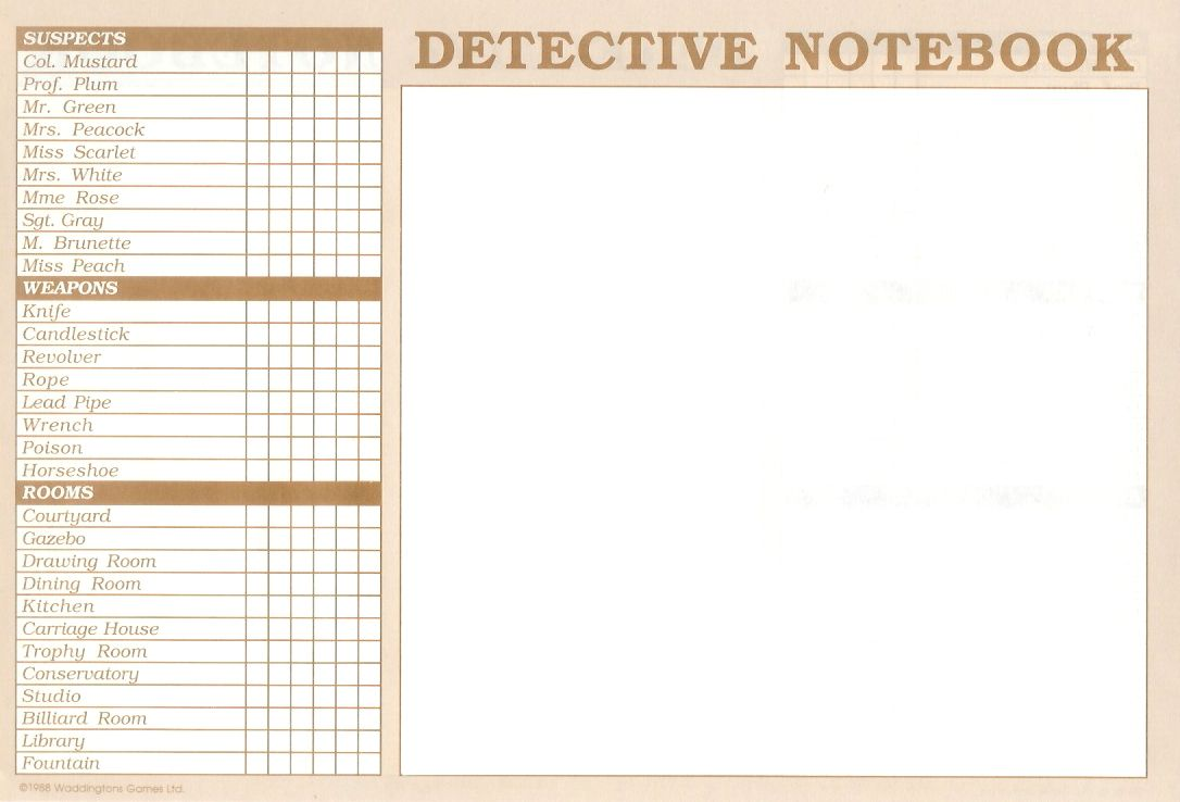 DETECTIVE NOTEBOOK TEMPLATE EBOOK