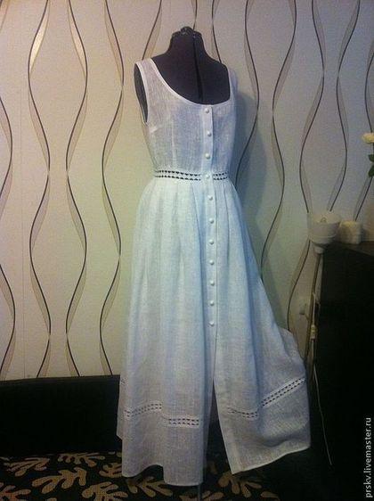 Платья ручной работы. Ярмарка Мастеров - ручная работа. Купить Льняное  платье-сарафан ( b570384bdbb