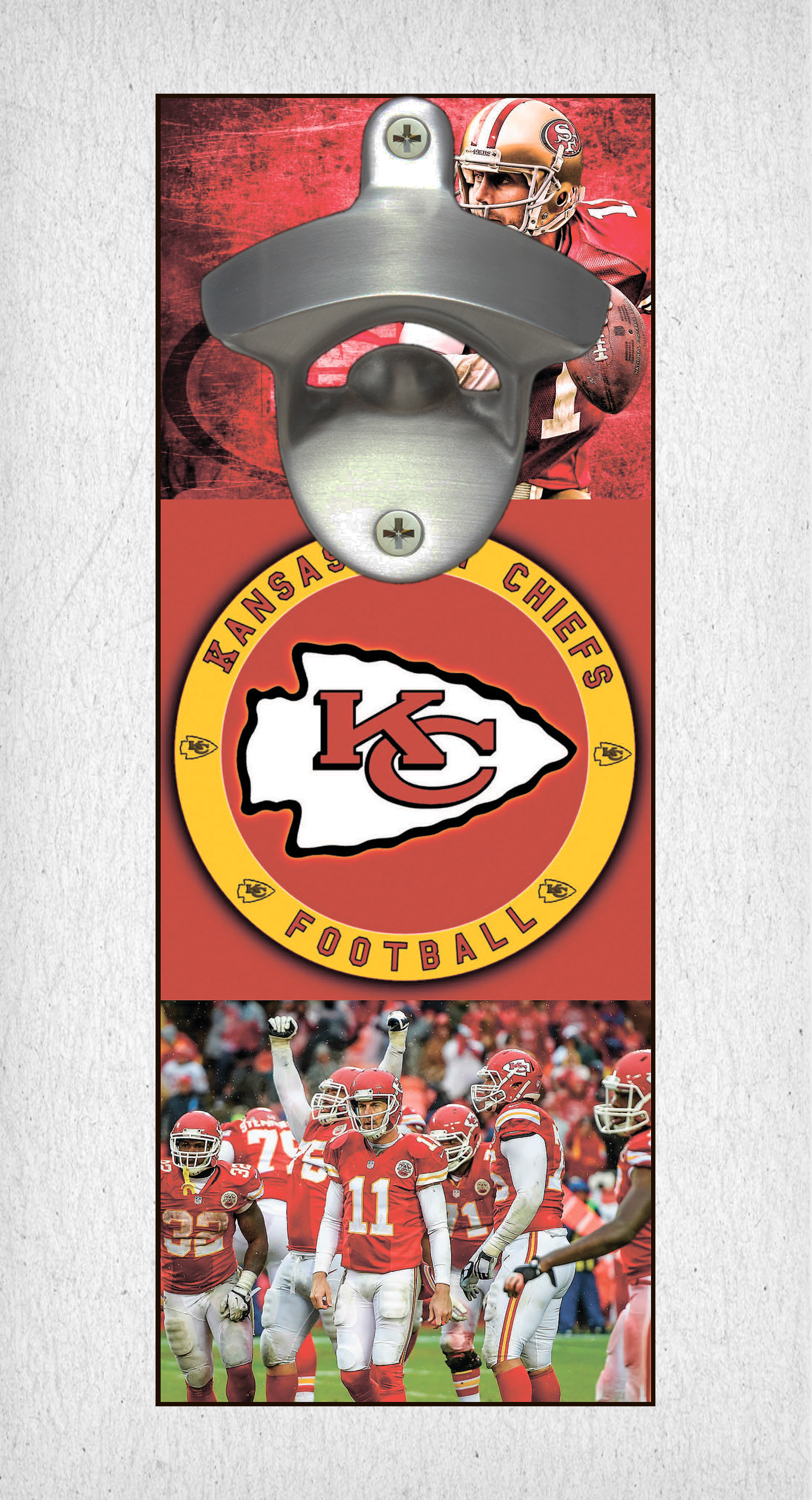 This Kansas City Chiefs Bottle Opener Can Be A Great Gift