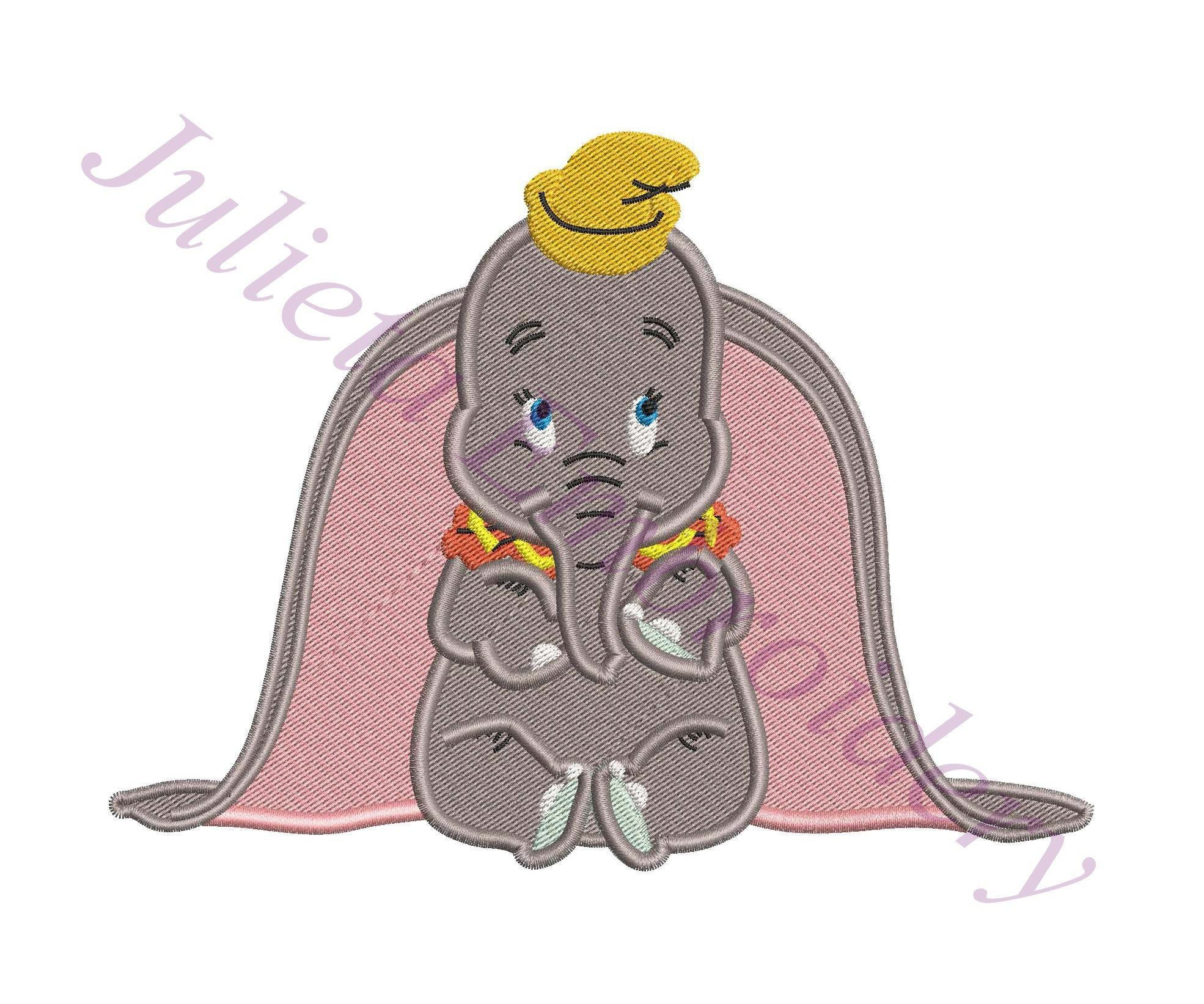 Dumbo Fill Embroidery Design 02 INSTANT DOWNLOAD