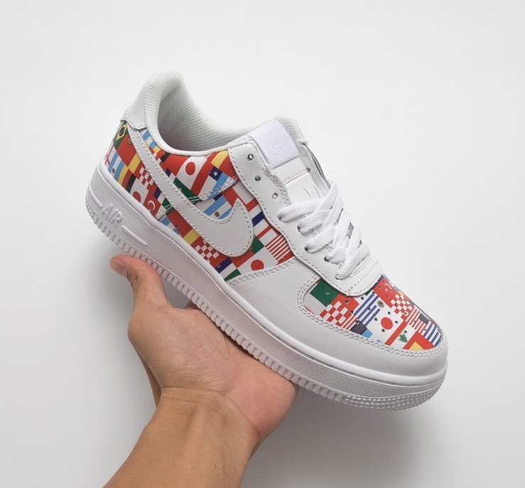 d0bfb49863c8 Custom Nike Air Force 1 Low Premium One World Flags 2018 FIFA World Cup  Russia