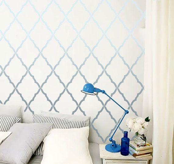Awesome Wand Schablone marokkanischen Gitter Rankgitter von OMGstencils