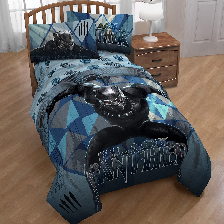 Marvel Black Panther Twin Comforter Blue Comforter Bedroom