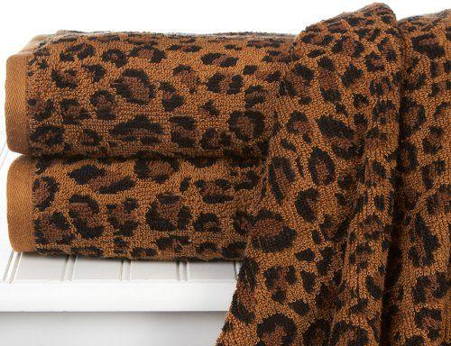 Leopard Print Bath Towel Beallshttpwwwamazoncomdp - Leopard print towels for small bathroom ideas