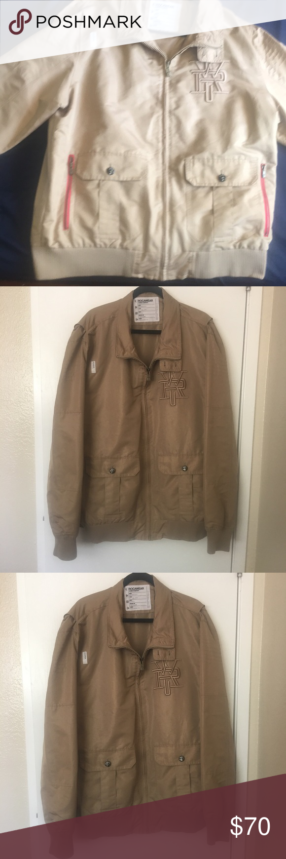 Men S Rocawear Vintage Tan Jacket Size 3xl Tan Colored Light Med Weight Jacket Rocawear Jackets Coats Tan Jacket Rocawear Jackets [ 1740 x 580 Pixel ]