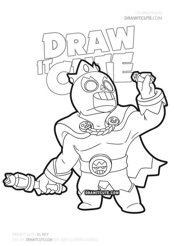 how to draw el rey  brawl stars  draw it cute