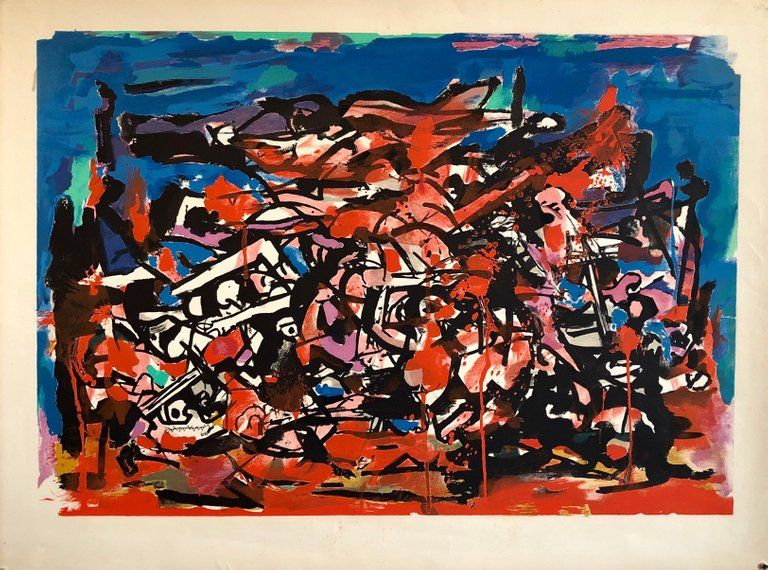 Abraham Rattner Abstract Print American Abstract Expressionist