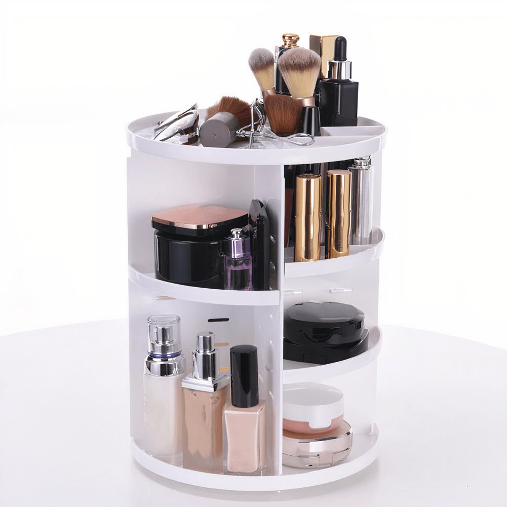 Photo of 360 Rotating Makeup Organizer – White