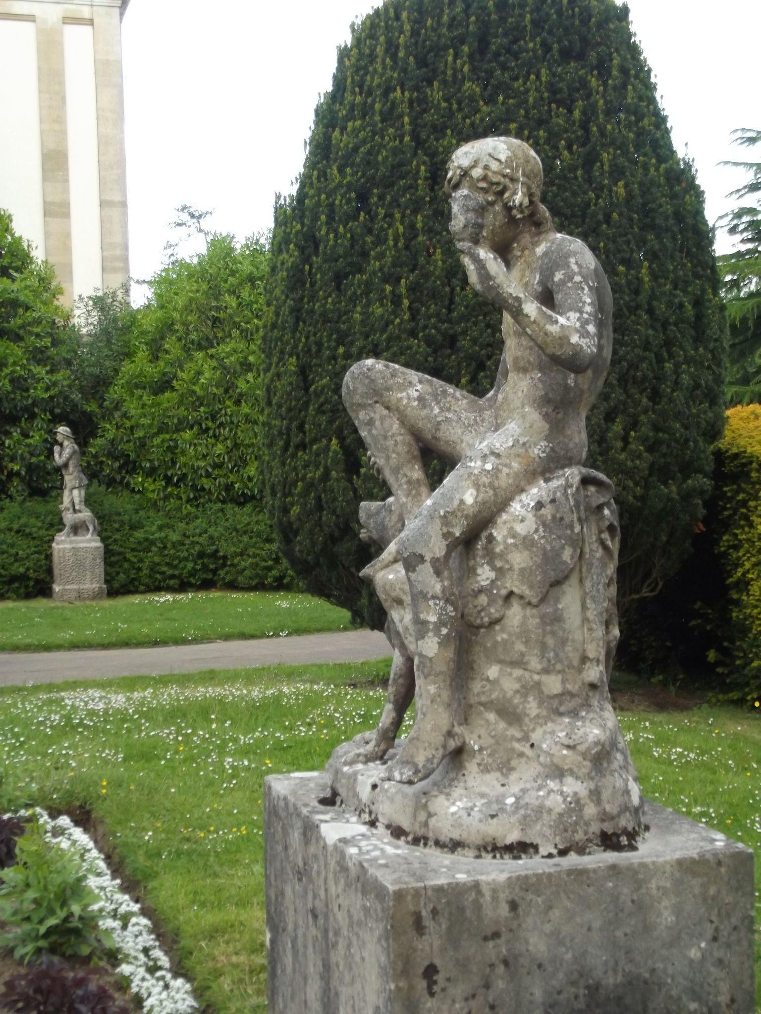 Httpsflickrpuwku8V - Dyffryn Gardens  Panel Garden  Statue -