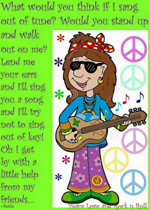 With Little Help From Its Friends Peace >> I Get By With A Little Help From My Friends Words Music Lyrics