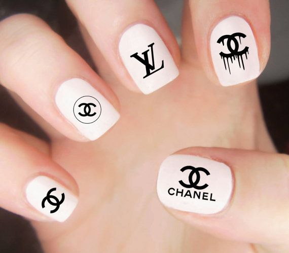 Chanel Nail Decals Chanel Logo Decals Chanel Nails Nail Wraps Louis Vuitton Nail Decals Louis Vuitton Nails Lo Adidas Nails Nike Nails Chanel Nails