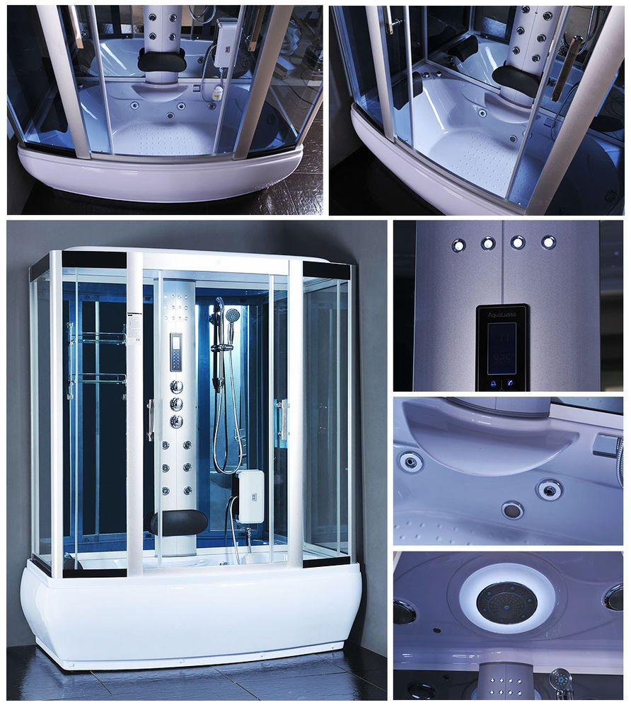 1001 NOW Steam Shower Enclosure Room Spa Whirlpool Touch Screen ...