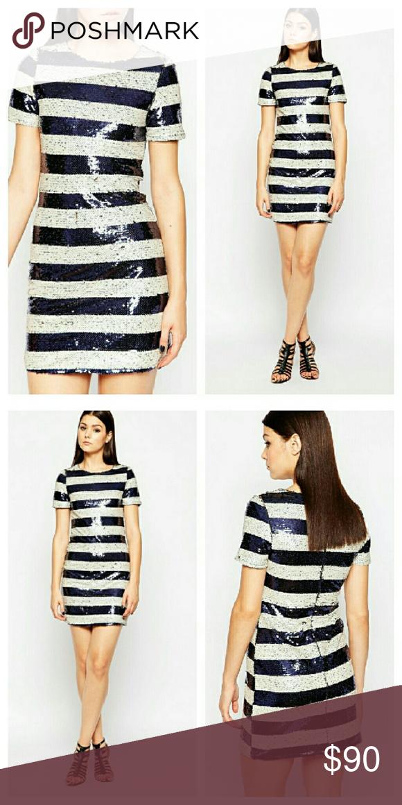 Black and white striped dress asos uk