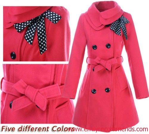 Pink Pea Coat. I MUST HAVE THIS!!!