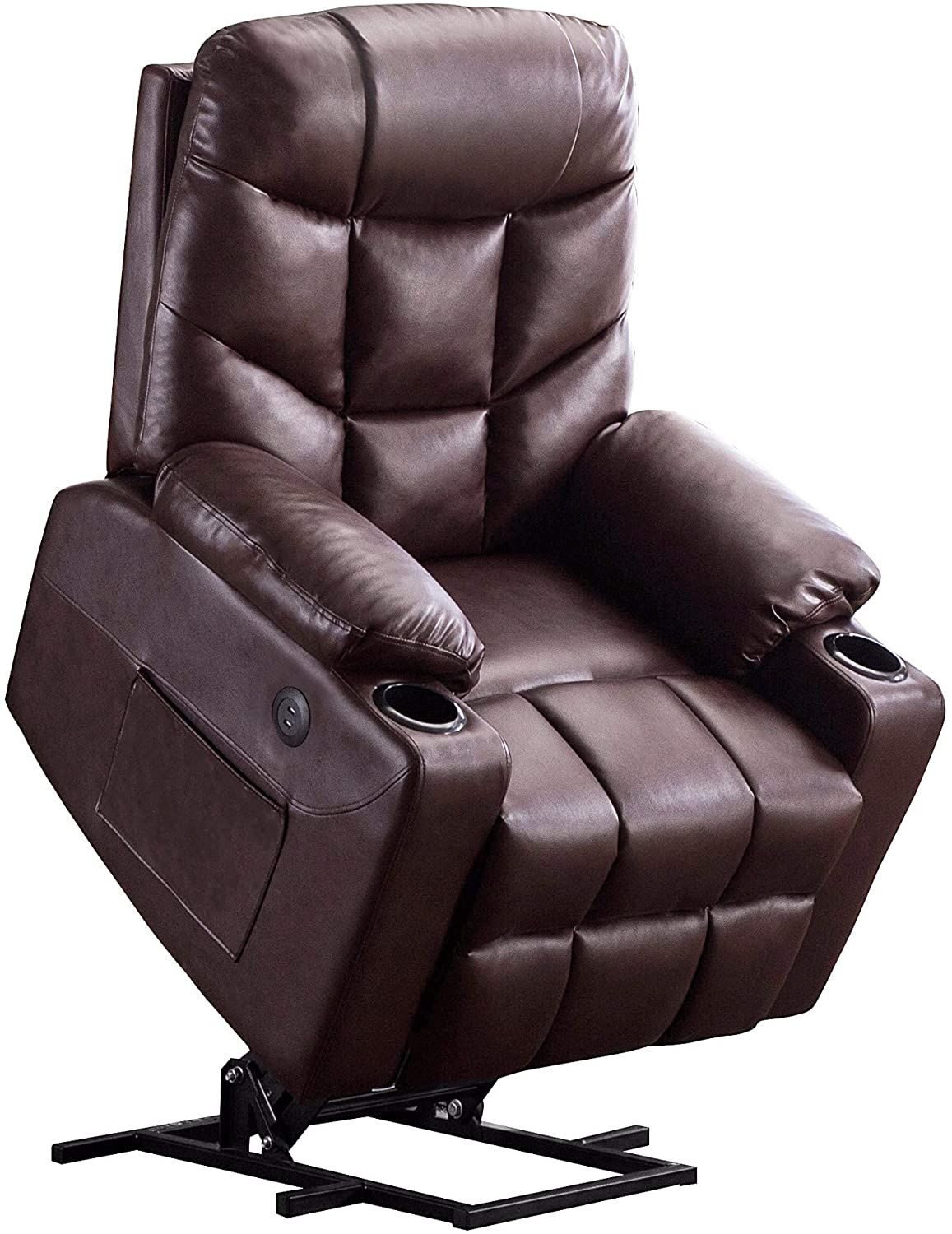 Mcombo Electric Power Lift Recliner Chair Sofa For Elderly 3 Positions 2 Side Pockets And Cup Holders Usb In 2020 Recliner Chair Couch With Chaise Lift Recliners
