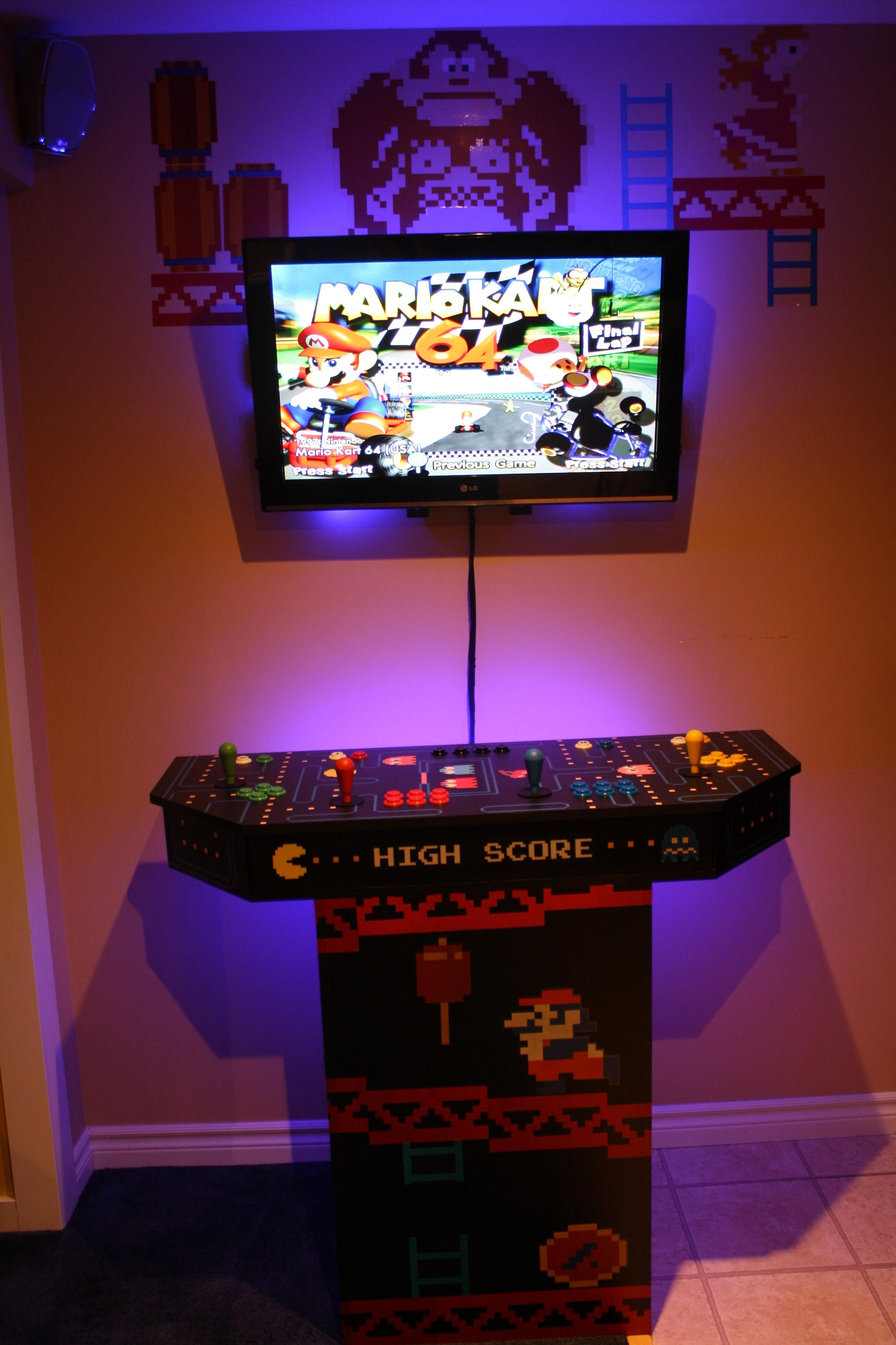 diy a games arcade cabinet pin custom build building