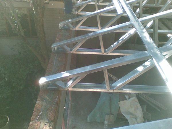 Rangka Baja Ringan Atap Miring Van Wyk Roof Light Steel Framing South Africa