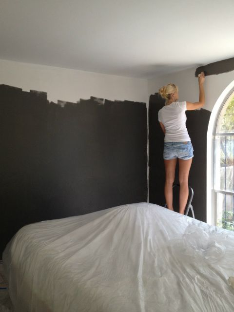 charcoal grey bedroom paint - Google Search