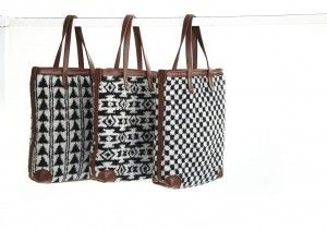 Merino wool and leather bags