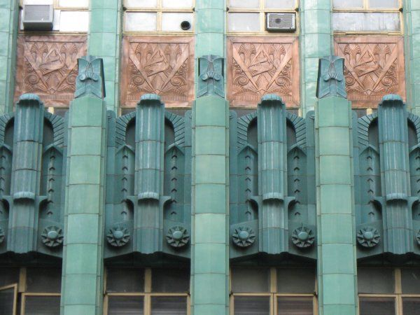 Art deco los angeles external detail los angeles jewelry center designed by