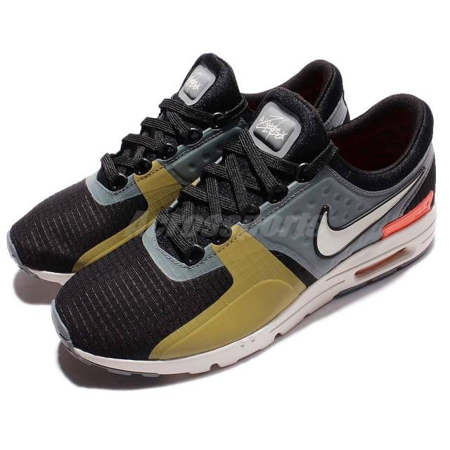 Wmns Nike Air Max Zero SI Black Grey Women Running Shoes Sneakers  881173-001  d0c85d2202c0