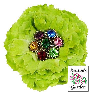 Lime Green Flowers | lime green carnation flower pin very cute lime green flower with a ...