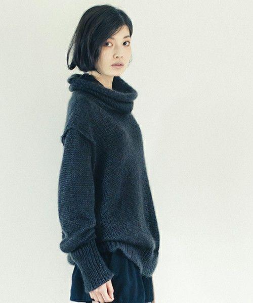 suzuki takayuki(スズキタカユキ)のturtle-neck sweater(ニット/セーター) カーキ