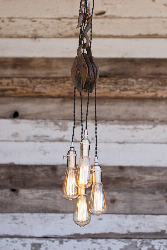 The rigger chandelier metal barn pulley pendant light edison the rigger chandelier metal barn pulley pendant light edison bulb industrial hanging fixture modern rustic ceiling lighting aloadofball Choice Image