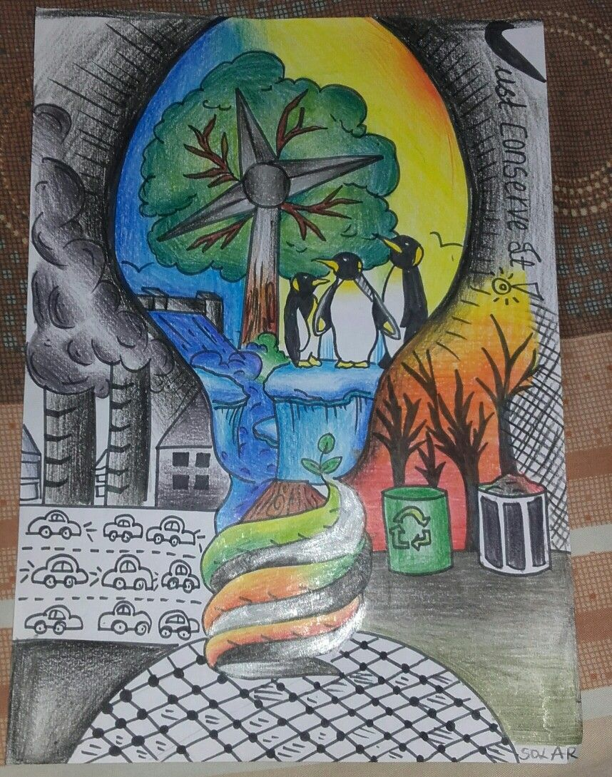 Energy Conservation In 2019 Save Water Poster Drawing