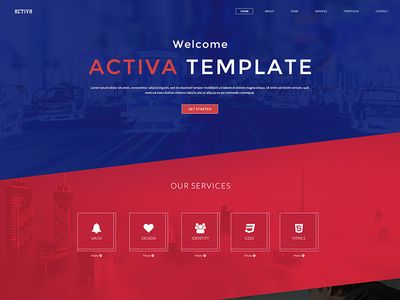 Activa Multipurpose One Page Psd Template