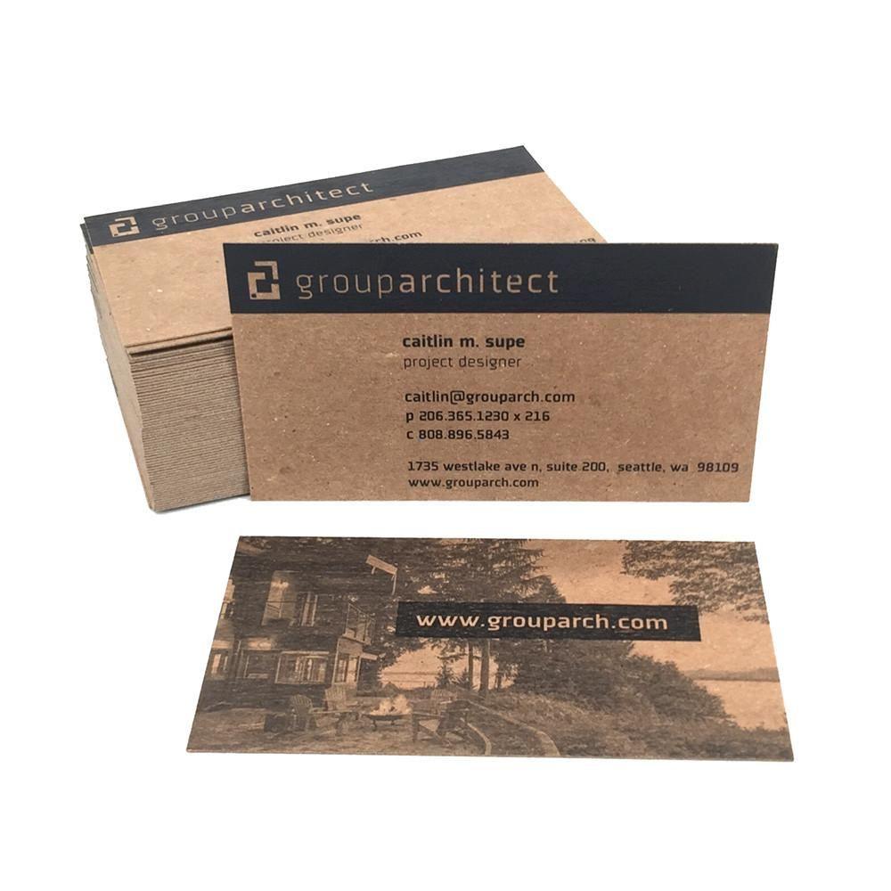 Kraftpapier Visitenkarten Großhandel Plus Kraftpapier