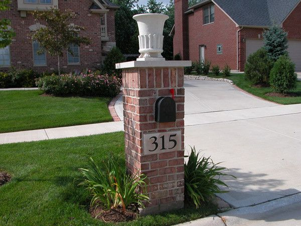 Mailboxes With Curb Appeal Mailboxes Brick Column My 400 x 300