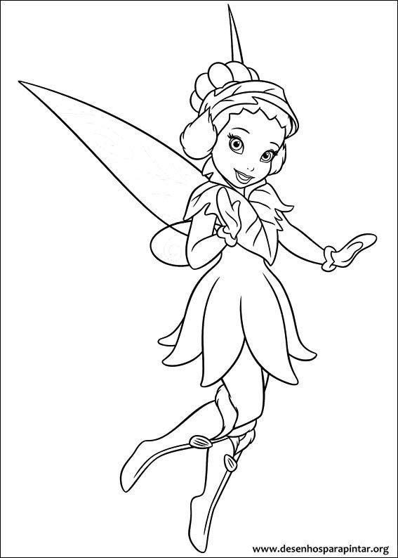 Desenhos Para Colorir Desenho De Tinker Bell Fadas E Piratas
